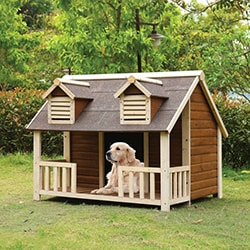 Rufus Cream and Oak Pet House